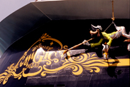 Goofy on the Stern of the Disney Magic