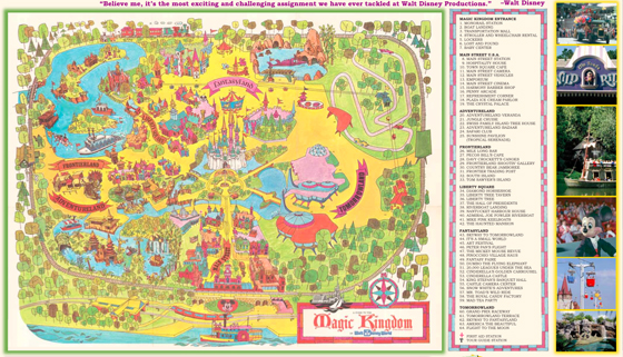 Walt Disney World 40th Anniversary Map – Disney World Map