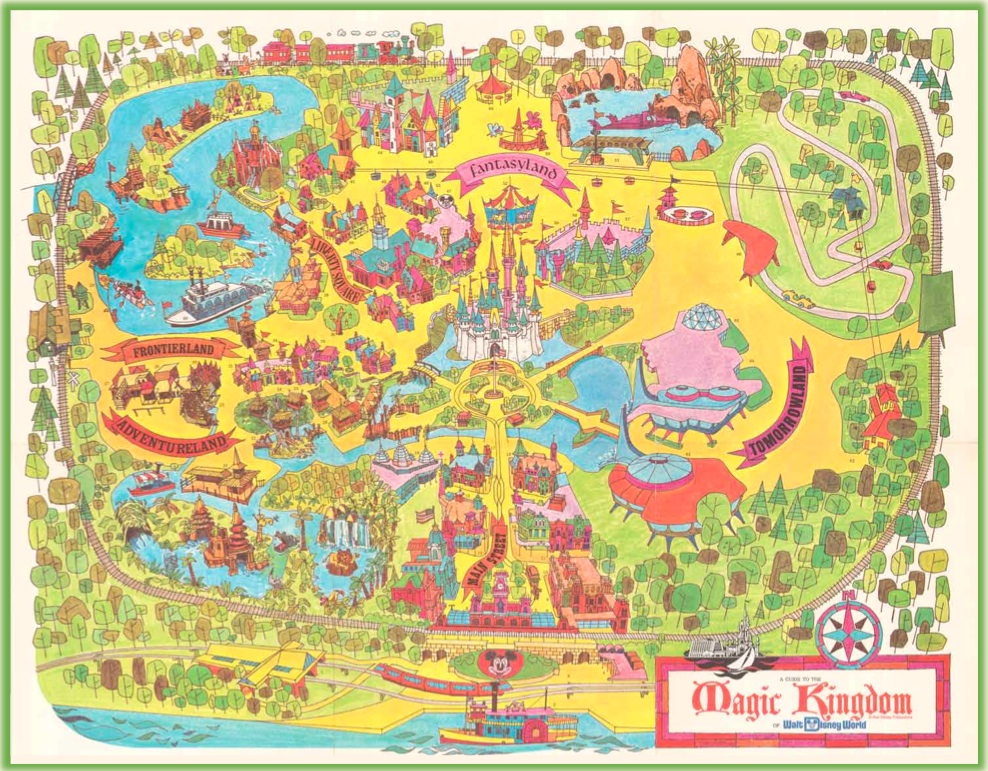 Walt Disney World   40th Anniversary Map