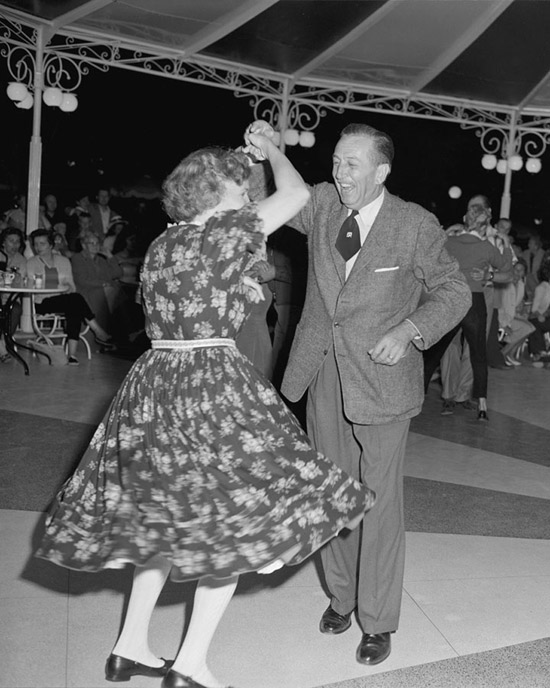 1958 Photo Walt Disney Dances The Night Away At
