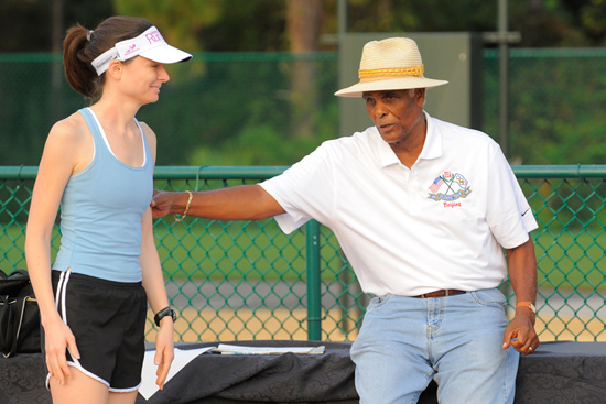 Participant Receiving Instruction from Olympic Track Coach Brooks Johnson
