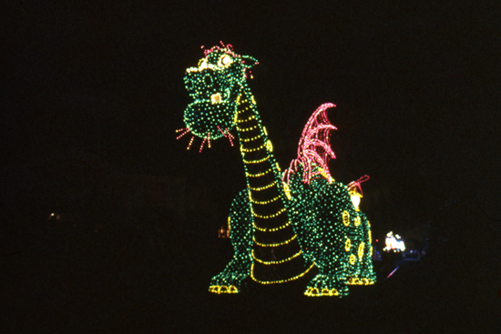 Elliot from 'Pete's Dragon' Makes His Debut at the Main Street Electrical Parade at Walt Disney World
