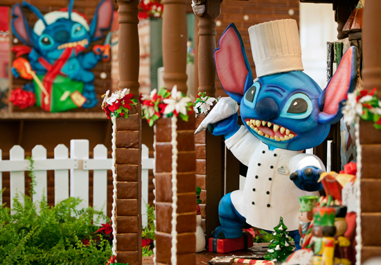Stitch Gets In on Gingerbread Fun