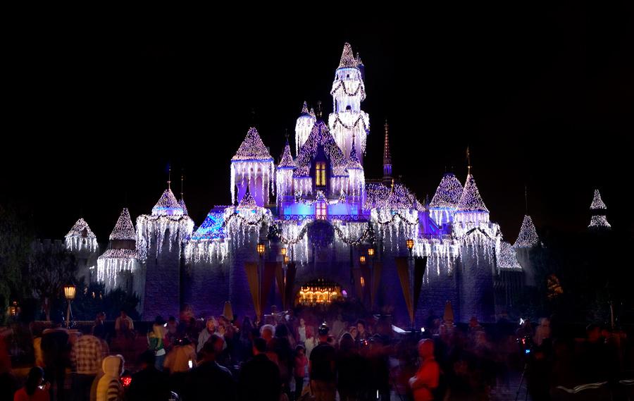 sleeping beautys winter castle at disneyland park - Disneyland Christmas Decorations