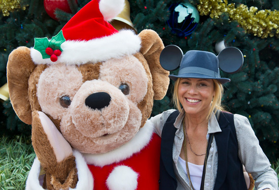 Duffy the Disney Bear with Actress Maria Bello
