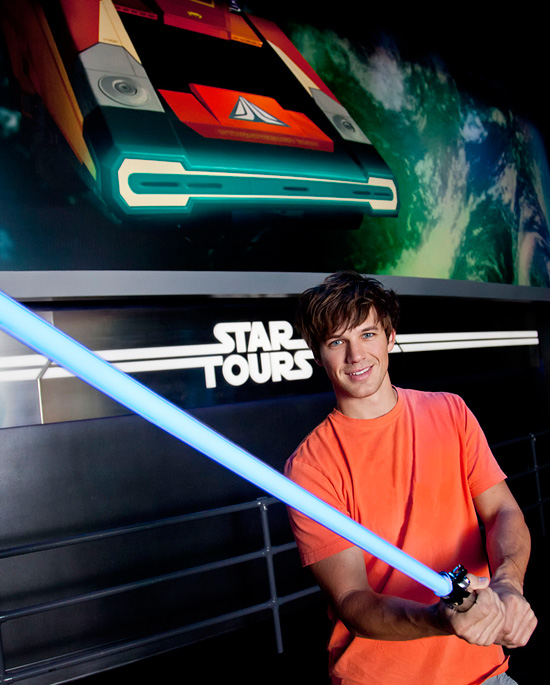 Matt Lanter of 'Star Wars: The Clone Wars' Visits Disneyland Park