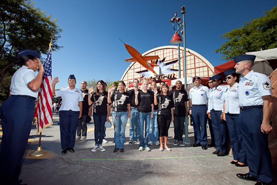 Air Force Reserve Recruits Sworn In at Disneyland Resort