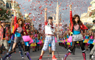 Bella Thorne (left) and Zendaya (right) from Disney Channel's 'Shake It Up,' Perform at Walt Disney World
