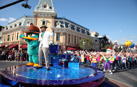 Host Nick Cannon tapes a segment with Agent P from 'Phineas & Ferb.'