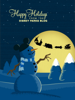 Mickey Mouse Joy Riding In Santas Sleigh IPhone Android Wallpaper
