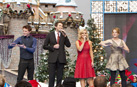Vocalists Nathan Pacheco and Katherine Jenkins, perform with actors Katie Leclerc and Sean Berdy from ABC's 'Switched at Birth.'