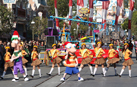 Disney Channel's Phineas and Ferb tape a segment for the parade.