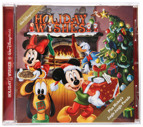 Walt Disney World Holiday Wishes CD, the Soundtrack from the Holiday Wishes Fireworks Spectacular at Magic Kingdom Park and Mickey's Jingle Jungle Parade at Disney's Animal Kingdom Park