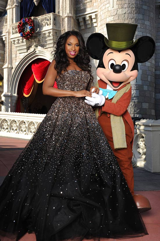 Jennifer Hudson and Mickey Mouse at Walt Disney World Resort Taping of 'Disney Parks Christmas Day Parade'