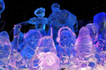 'Snow White and the Seven Dwarfs' Ice Sculptures, Featured in the Interpretation of Disneyland Paris Enchanted Christmas for the 10th International Snow & Ice Sculpture Festival in Bruges, Belgium
