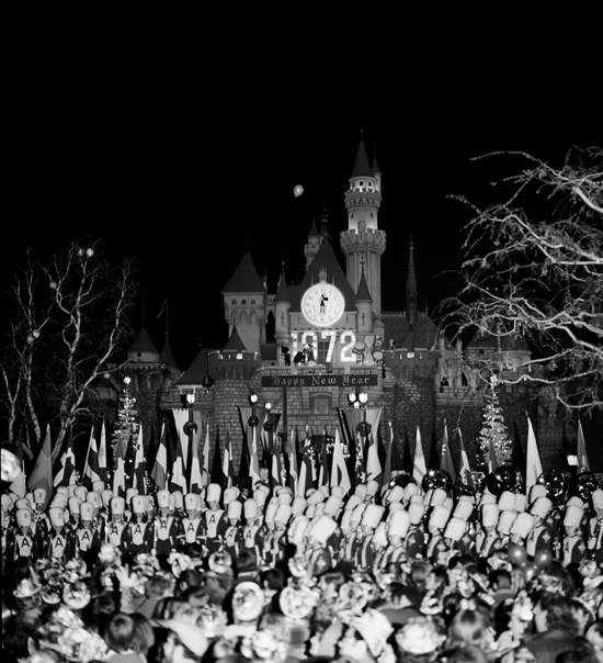 Celebrating the New Year at Disneyland Park in 1972
