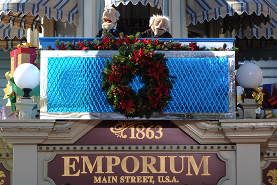 Statler and Waldorf at Walt Disney World Resort Taping of 'Disney Parks Christmas Day Parade'