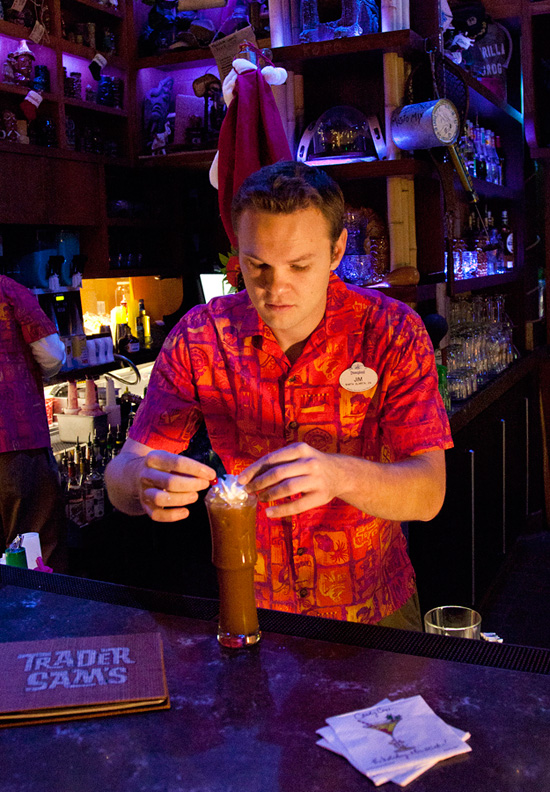 Mele Kaliki-Mocha Drink Available for the Holidays at Trader Sam's – Enchanted Tiki Bar at the Disneyland Hotel