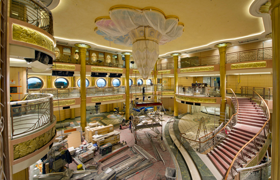 The Art Nouveau-Inspired Atrium Lobby on the Disney Fantasy