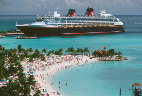 The Disney Wonder at Castaway Cay