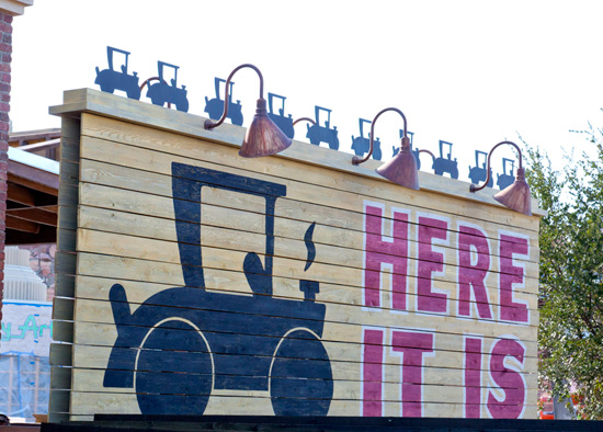 'Here It Is!' Sign at Cars Land at Disney California Adventure Park