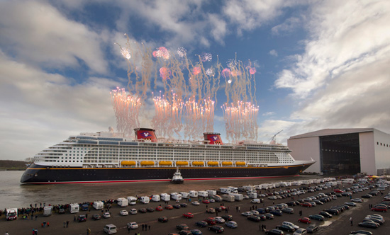 Disney Cruise Line Celebrates the Disney Fantasy 'Float Out' at Meyer Werft Shipyard in Germany