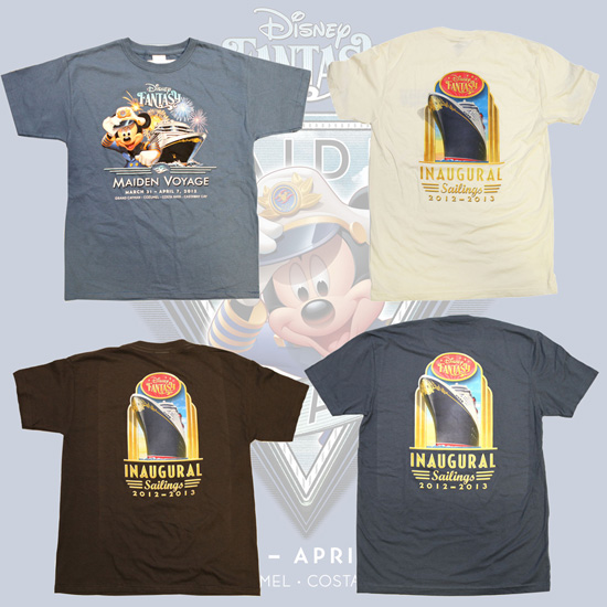 Tee-Shirts Available for Pre-Sell for Guests Sailing on the Maiden Voyage of the Disney Fantasy