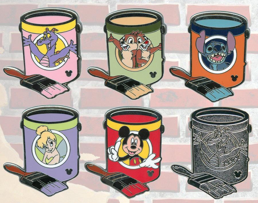 Disney Hidden Mickey Paint Can Pins