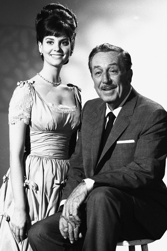 Lesley Ann Warren Poses with Walt Disney