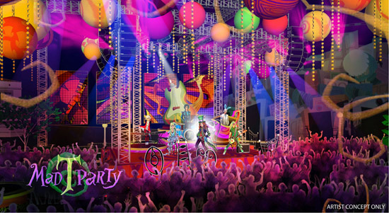 Artist Rendering of the Mad T Party Coming to Disney California Adventure Park in Summer 2012