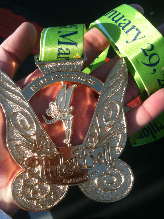 New Medal for the Inaugural Tinker Bell Half Marathon at the Disneyland Resort