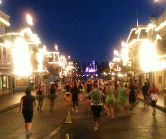 Main Street, U.S.A, During the Inaugural Tinker Bell Half Marathon at the Disneyland Resort