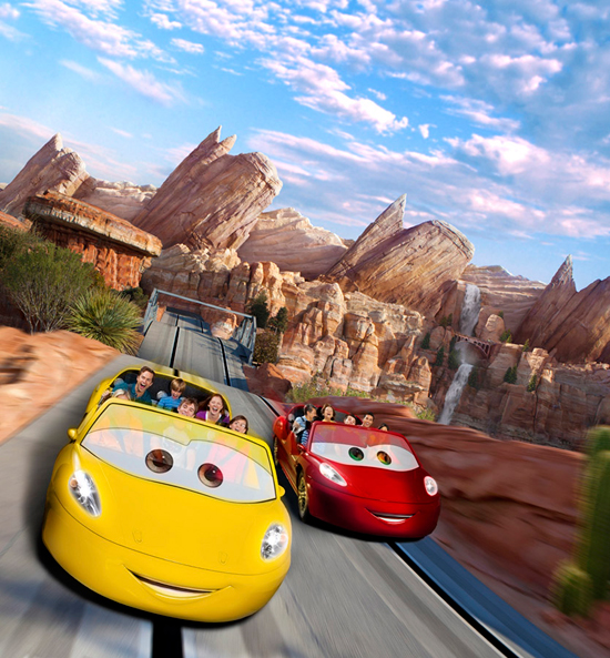Radiator Springs Racers Photo Composite