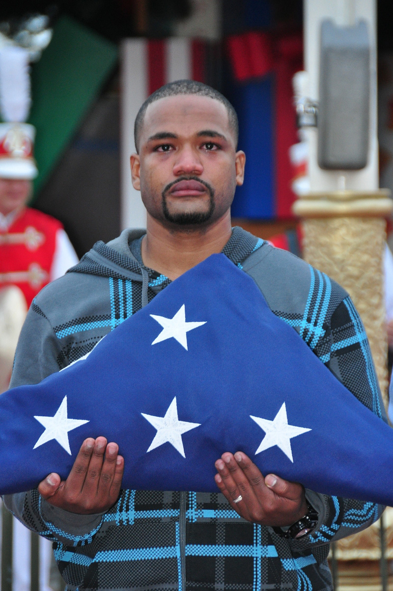 Wounded Veteran Walks with American Flag at Magic Kingdom ...
