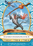 Rafiki's Wisdom Stick Card, Part of the Sorcerers of the Magic Kingdom Game at Walt Disney World Resort