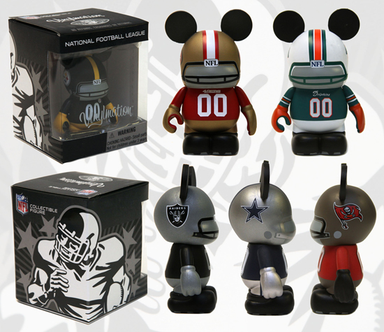 New Vinylmation Sports Series Comes to Disney Parks, Featuring Teams of the National Football League