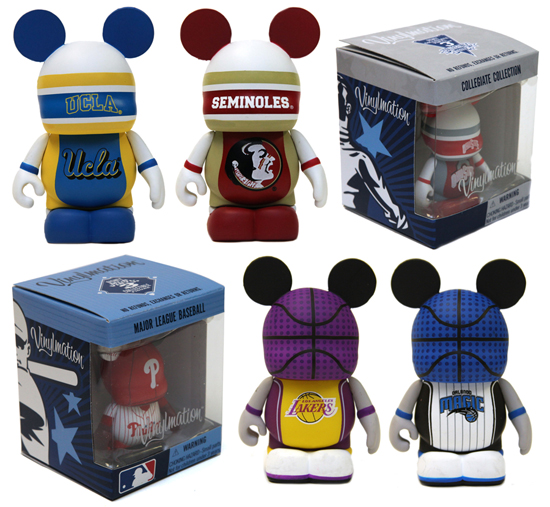 New Vinylmation Sports Series Comes to Disney Parks, Featuring the Collegiate Collection and Teams of Major League Baseball and the National Basketball League