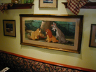 Ducky Williams' Artwork in Tony's Town Square Café in Magic Kingdom Park