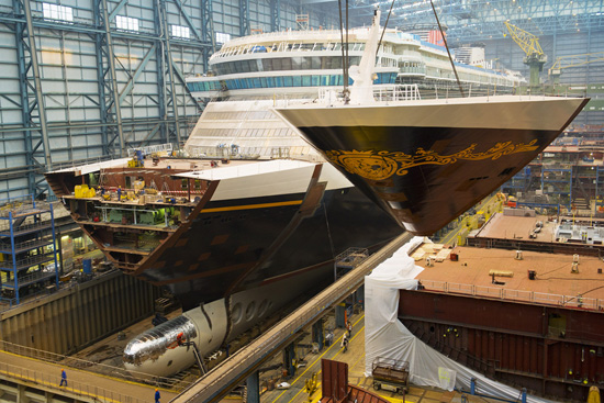 Final Block of the Disney Fantasy Mounted