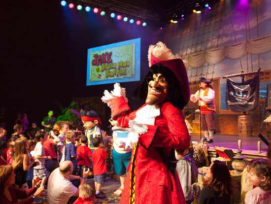 Captain Hook at the 'Jake and the Never Land Pirate Band' Meet-Up