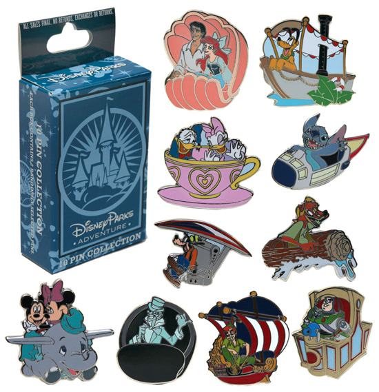 Exclusive Mystery Pin Set Available on the Disney Parks Online Store