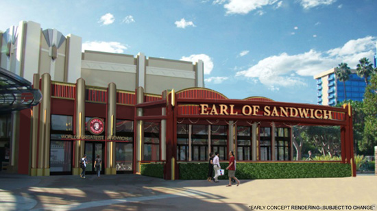 Earl of Sandwich Restaurant Coming to Downtown Disney District at the Disneyland Resort