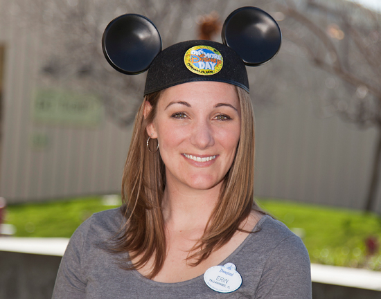 Disney Parks Blog Author Erin Glover Wears her One More Disney Day Limited-Edition Ear Hat