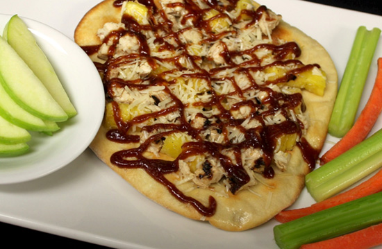 Kids' Menu at Liberty Tree Tavern in Magic Kingdom Park Includes Barbecued Chicken & Pineapple Flatbread Pizza Starting Feb. 15