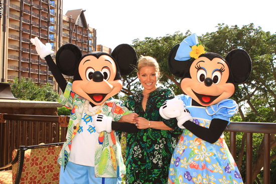Kelly Ripa, Host of 'LIVE! with Kelly' Enjoys Aulani, A Disney Resort & Spa.