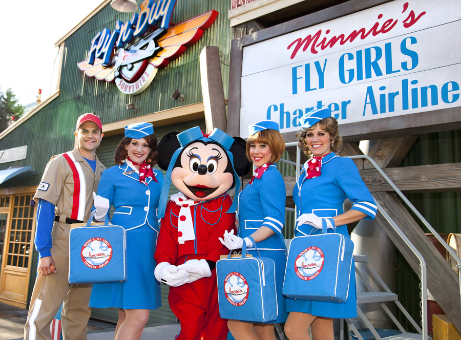 Minnie S Fly Girls In California Adventure S Condor Flats Closed