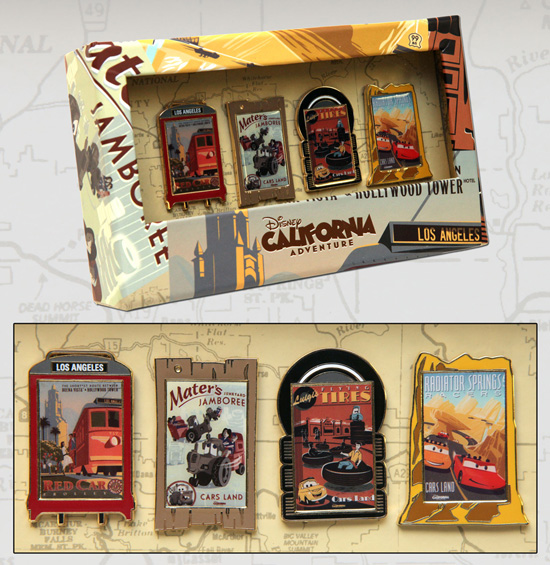 Disney California Adventure Park Attraction Poster-Inspired Pins Arriving in Late March/Early April