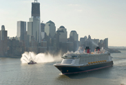 The Disney Fantasy Pulling into the Harbor in New York City
