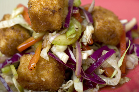 Crispy Tofu Salad, A Quick-Service Vegeterian Meal at Tangaroa Terrace - Casual Island Dining at Disneyland Resort