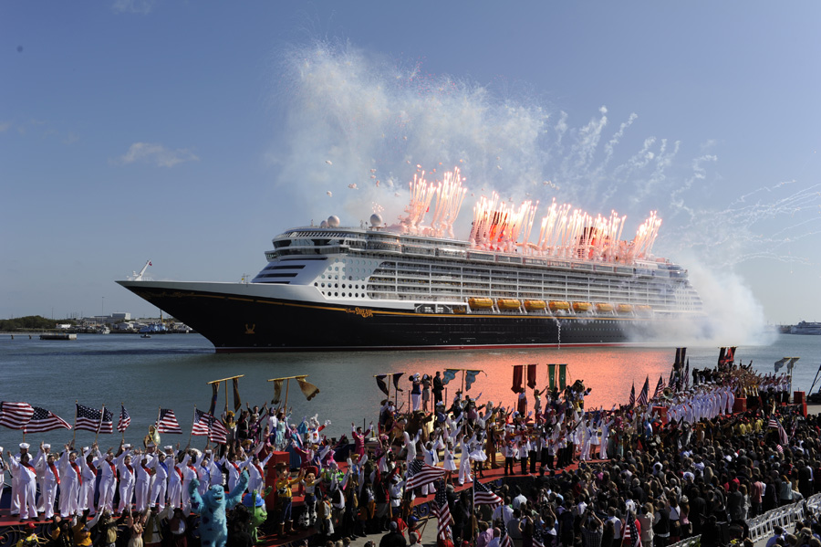 Vintage Walt Disney World Past Disney Cruise Line Christenings - Disney magic cruise ship pictures
